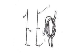 Как правильно привязать вторую мормышку к леске