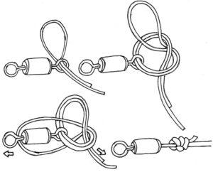 Каким узлом привязать карабин к флюрокарбоновой леске