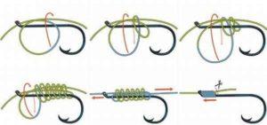Как правильно привязать крючок к флюрокарбоновой леске