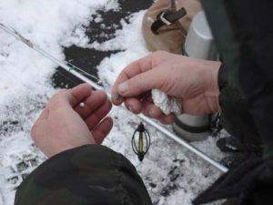 Ловля зимой леща на пенопласт