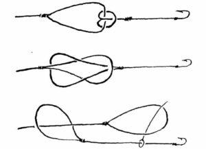 Как привязать поводок из струны к леске
