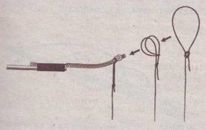 Как привязать леску к удилищу с кольцом