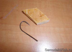 Снасть на голавля на корку хлеба со дна