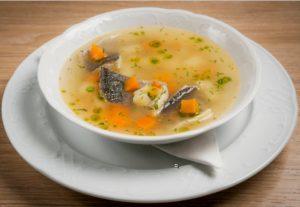 Суп уха из речной рыбы