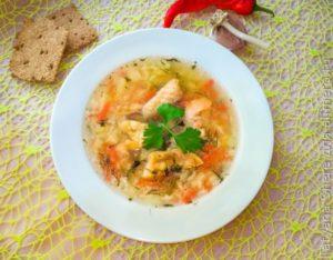 Как сварить суп из семги с рисом