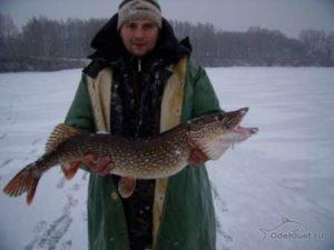 Зимняя рыбалка на реке сить
