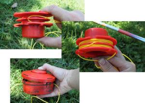 Как намотать леску на катушку для газонокосилки
