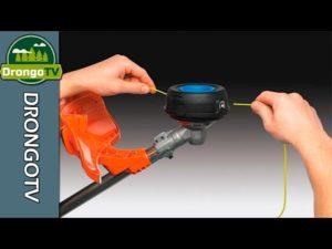 Как разобрать катушку с леской на триммере