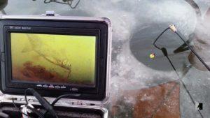 Съемка подледной рыбалки
