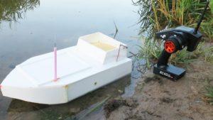 Самодельный прикормочный кораблик для рыбалки