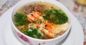 Рыбный суп из головы судака