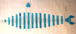 Схема дельфина из бисера объемного из лески