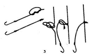 Как привязать поводок крючком к основной леске