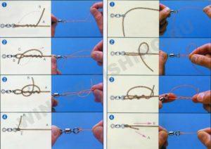 Как привязать черта без ушка к леске