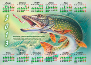 Календарь ловли щуки и окуня