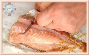 Разделка морского окуня на филе видео