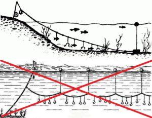 Как правильно установить перемет на реке
