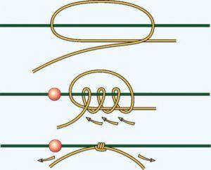 Как завязать узел на леске на браслете