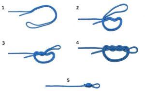 Как вяжется хирургическая петля на леске