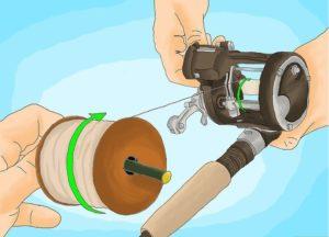Как зафиксировать леску на мультипликаторной катушке