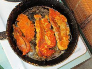 Как жарить икру рыбы