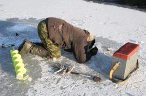 Ловля в зимовальной яме