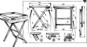 Складной стол для рыбалки своими руками чертежи