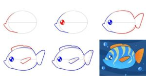 Ютуб как нарисовать рыбу
